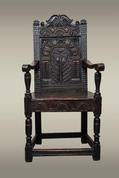 Fine and rare Gloucestershire chair circa 1640, Marhamchurch antiques