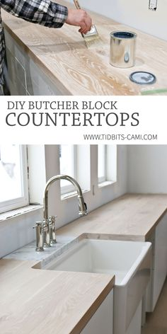 Save yourself hundreds and build your own DIY Butcher Block Countertops! Watch our process and discover all the products you& need. DIY Butcher Block Countertops & Oh, yes you can! & Tidbits Source by kjtejohnson The post DIY Butcher Block Countertops Architecture Renovation, Home Renovation, Home Remodeling, Diy Kitchen Remodel, Kitchen Redo, Kitchen Design, Diy Kitchen Decor, Decorating Kitchen, Kitchen Renovations