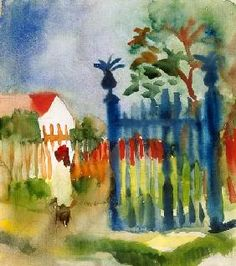 Gartentor - August Macke painting for sale with custom sizes and frames.Buy discount oil paintings at impeccable quality from our website. August Macke, Wassily Kandinsky, Print Artist, Artist Art, Maurice De Vlaminck, Oil Painting Reproductions, Garden Gates, Oeuvre D'art, Art For Sale