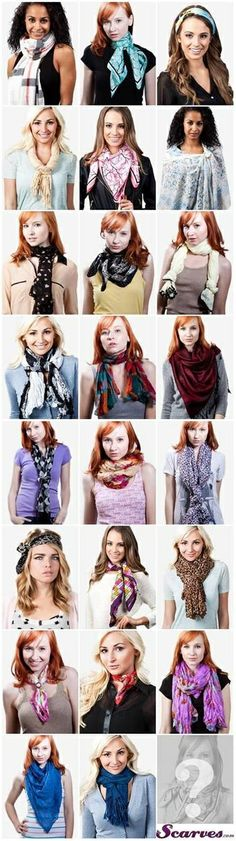 Different Ways to Knot a Scarf