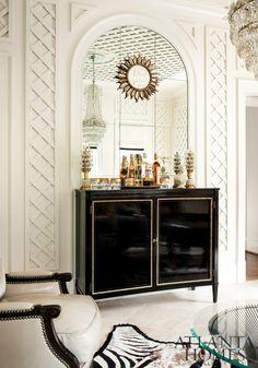 black, white & gold glam!!