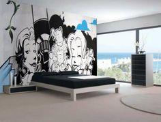 decoracao de quarto com desenho na parede - Pesquisa Google