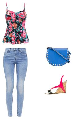 """""""look cuerpo rectángulo"""" by maria-l-v on Polyvore featuring moda, G-Star, Christian Louboutin y Valentino"""