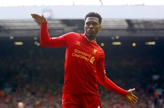 Daniel Sturridge celebrates his goal against Crystal Palace in typical style! #LFC