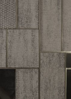 Dark handcut brick within meticulous metal frame, brick creates gaps, frame keeps it all rigid. structure is concrete frame internally. Interior Exterior, Interior Walls, Interior Design, Architecture Details, Interior Architecture, Joinery Details, Inspiration Design, Wall Finishes, Wall Cladding