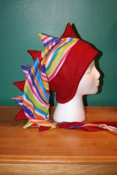 REDUCED 25% Red & Multicolored Stripes by thelopsidedfrog on Etsy, $15.00