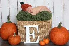 newborn pose for the fall