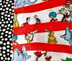 Excited to share the latest addition to my #etsy shop: Dr.Seuss Is On the LOOSE! Handmade fleece blanket designed by JAX. A Dr Seuss themed throw that makes a great custom gift idea! http://etsy.me/2oeYnBu #housewares #bedroom #bedding #black #fleece #yes #polkadot #re