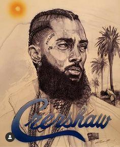 Behind Ear Tattoos, Lauren London Nipsey Hussle, Sketch Tattoo Design, Rapper Art, Black Art Pictures, Graffiti Wallpaper, Black Love Art, Hip Hop Art, Black Artists