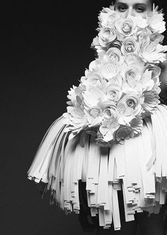 """photographer joel rhodin collaborated with designer bea szenfeld to capture her collection """"haute papier"""", more."""