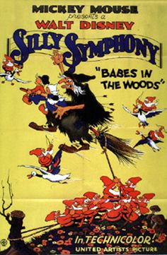 Babes in the Woods Silly Symphony Disney cartoon movie poster