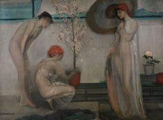 James Abbott McNeill Whistler - Three Figures: Pink and Grey - 1868