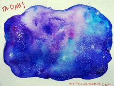 how to paint a galaxy