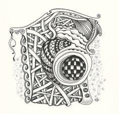 Art Room Blog: Zentangles by Verne...Diva Challenge