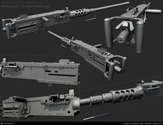 Browning M2 .50 Caliber machine gun by Byunghwa Jung   3D   CGSociety