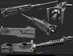 Browning M2 .50 Caliber machine gun by Byunghwa Jung | 3D | CGSociety