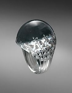 Lalique, glass ring, c. 1931