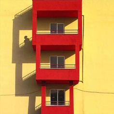 Yener Torun - Istanbul, modern buildings with graphic shapes and bright colours… Architecture Design, Minimalist Architecture, Contemporary Architecture, Design Simples, Interior Minimalista, Design Minimalista, Minimalist Photography, Modern Buildings, Colourful Buildings
