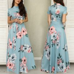 60 ideas dress indian gowns long for 2019 Indian Gowns Dresses, Modest Dresses, Trendy Dresses, Nice Dresses, Casual Dresses, Maxi Gowns, Floral Print Gowns, Printed Gowns, Floral Prints