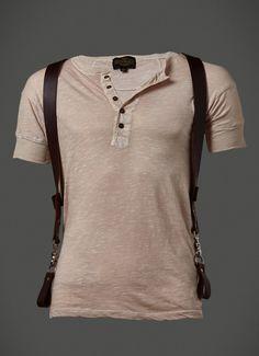 Shackle Back Leather Suspenders