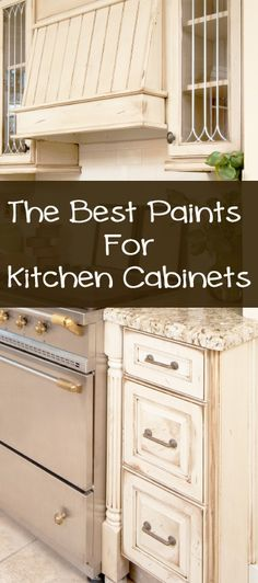 Types of Paint Best For Painting Kitchen Cabinets:  Sherwin Williams Proclassic Interior Acrylic Ename &  Benjamin Moore's Advance Waterborne Interior Alkyd Paint. Both require a primer.