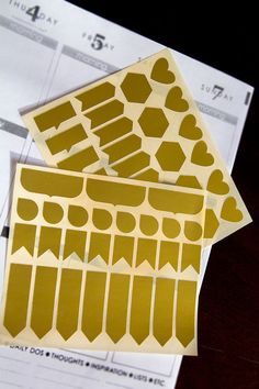 56 metallic gold stickers life planner stickers by CartaPrintea