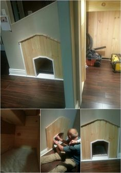 Indoor House - 15 Brilliant DIY Dog Houses With Free Plans For Your Furry Companion