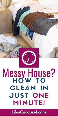 Got a Minute? Try one of these ONE MINUTE CHORES to keep your home clean and tidy. Fast and quick cleaning tips to clean your house even when you have no time! Speed Cleaning, Deep Cleaning Tips, House Cleaning Tips, Spring Cleaning, Cleaning Hacks, Cleaning Schedules, Cleaning Lists, Cleaning Checklist, Window Cleaner Recipes