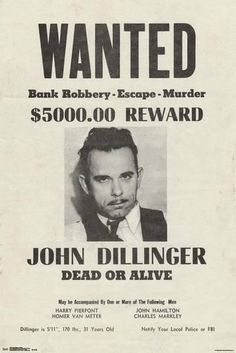 Collectibles American Bank Robber John Dillinger Glossy 11x14 Photo Machine Gun Poster Print Pure White And Translucent Mobs, Gangsters & Criminals