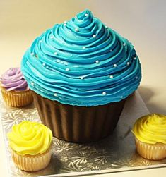 giant cupcake cake for boys - Google Search