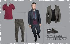 Despite the controversy surrounding the X Factor on Sunday, judge Gary Barlow still scrubbed up exceedingly well for a make amends dinner on Tuesday night with Dermot and fellow judges.  Get his look at miinto with:  http://www.miinto.co.uk/p-7034-fred-perry-polo-shirt  http://www.miinto.co.uk/p-13735-anerkjendt-billy   http://www.miinto.co.uk/p-13509-anerkjendt-carson  http://www.miinto.co.uk/p-6996-black-loafers-with-tassles