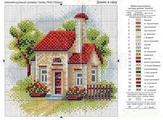 домик в саду вышивка схема: 18 тыс изображений найдено в Яндекс.Картинках