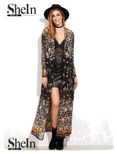 370b5de61fd Price tracker and history of 2017 ZANZEA Vintage Womens Long Sleeve Boho  Floral Printed Chiffon Kimono V Neck Summer Beach Maxi Long Jacket Cardigan  Tops