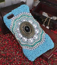 iPhone 4 4S 5 5S 5C Case Rhinestone Handmade Luxury Bohemian ethnic style