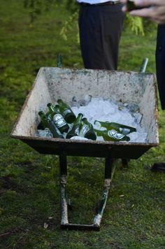 Wedding deco, heineken beer dispenser