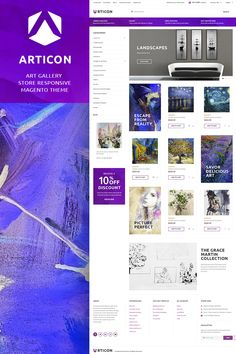 Articon is a fully responsive Magento 2 theme that is ideal choice to build a functional artist, prints, art gallery or posters store. You can customize your
