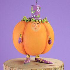 Patience Brewster Halloween Home Decor Mini Gourdon Ornament
