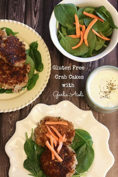 Gluten Free Crab Cakes with Garlic Aioli Dipping Sauce- Lauren Kelly Nutrition #GameDay