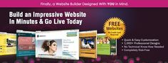 Create your Free website from 1000s of professional designs.