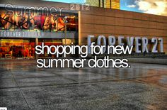 shopping for new summer clothes.