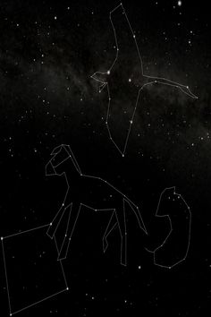 New Asterisms of the Ancient Constellations. Pictures by Sam Z. Zodiac Art and Astrology Artwork of Gemini Cancer Leo Virgo Libra Scorpio Sagittarius Capricorn Aquarius Pisces Aries and Taurus. Sagittarius And Capricorn, Gemini And Cancer, Cygnus Constellation, Dotted Drawings, Pagan Gods, Pig Art, Star Constellations, Zodiac Star Signs, Connect The Dots