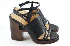Ellen Verbeek sandals heel: 1816EV TL (zwart, leder) - THIRON
