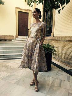 Mi look:  vestido de pedrería y encaje de Alfredo Villalba, sandalias de Manolo Blahnik y joyas, cómo no, de Bulgari