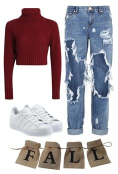 """""""Actually this is my first one and I don't know what to do :D"""" by miraszcs ❤ liked on Polyvore featuring adidas Originals and One Teaspoon"""