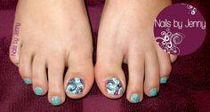 Glitter Toes - Swirl Accents