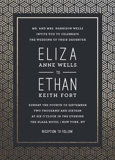 NEW! Minted Weddings 2016 wedding invitation suites. Find art deco more unique designs from the Minted community of independent artists by clicking here now.