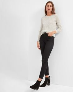Everlane  Cashmere Crew - frost donegal size small