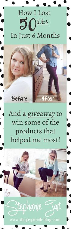 I Lost 50 lbs in 6 months, and have KEPT it off for another 6. Best of all? I didnt use any working out or crazy restrictive dieting plan. Want to know how I did it? Im even giving away some of the products that helped me most!