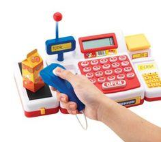 Caja registradora supermercado con escáner y calculadora (18 x 16 x 38 cm) (Simba 452570): Amazon.es: Juguetes y juegos