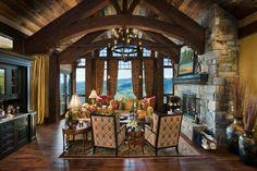 Exemple d'aménagement de prestige pour une résidence de vacances dans la montagne